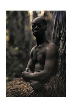 A Portrait of a Man of the Zulu Tribe by Franklin Price Knott