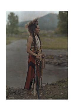 A Portrait of an American Indian by Franklin Price Knott