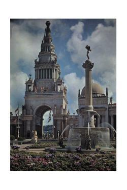 A View of an Ornate Tower, Part of the Panama-Pacific Exposition by Franklin Price Knott