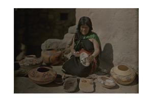 An Informal Portrait of Nanpeo, a Famous Hopi Potter by Franklin Price Knott