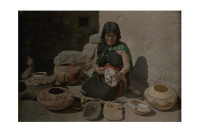 An Informal Portrait of Nanpeo, a Famous Hopi Potter