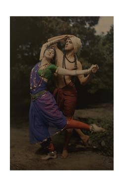 Modern Dance Pioneers Ted Shawn and Ruth St. Denis Perform in Costume by Franklin Price Knott