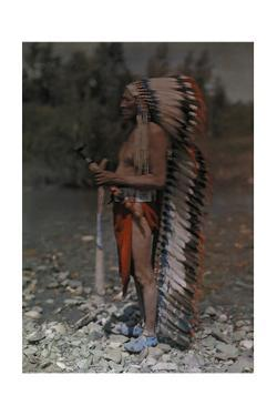 Portrait of an American Indian Chief by Franklin Price Knott