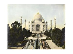 The 17th Century Taj Mahal Is an Example of Mughal Architecture by Franklin Price Knott