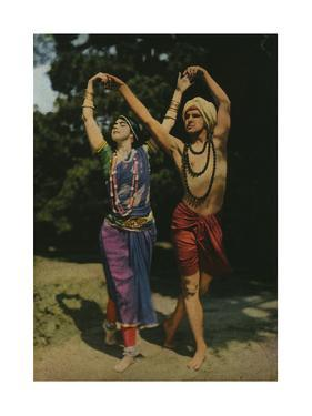 Two Modern Entertainers Perform an East Indian Dance by Franklin Price Knott