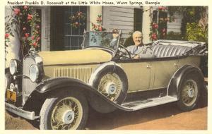 Franklin Roosevelt in Vintage Car, Warm Springs, Georgia