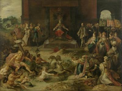 Allegory on the Abdication of Emperor Charles V in Brussels October 1555, 1642