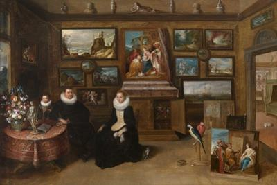 The Kunstkammer with a Married Couple and their Son, First Third of 17th C