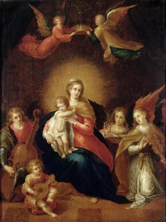 The Virgin and Child with Musicmaking Angels