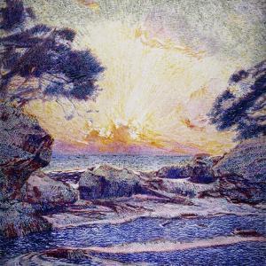 Cote Scene, Sunset, Scene De Cote, Coucher De Soleil by Frans Gaillard