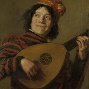 Lute Players, the Fool by Frans Hals