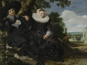 Portrait of a Couple, Probably Isaac Abrahamsz Massa and Beatrix Van Der Laen, C.1622 by Frans Hals