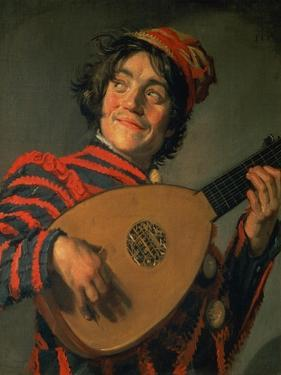 Portrait of a Jester with a Lute by Frans Hals