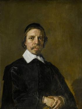 Portrait of a Man, Possibly a Preacher, Frans Hals. by Frans Hals