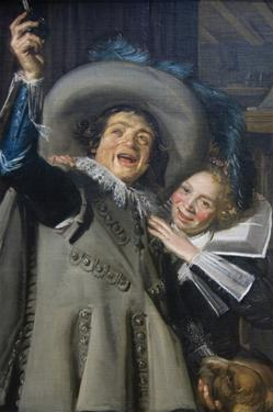 """Young Man and Woman in an Inn (""""Yonker Ramp and His Sweetheart""""), 1623 by Frans Hals"""