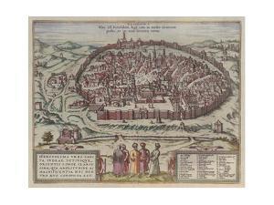 The Jerusalem Map (From: Jansson, Jan. Illustriorum Hispaniae Urbium Tabulae, Amsterdam, 165), 1657 by Frans Hogenberg