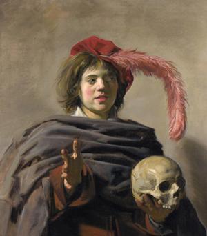 Young Man Holding a Skull (Vanita), 1627 by Frans I Hals