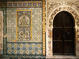 Mosaics and the Entrance Door to Gurgi Mosque in the Old City by Frans Lemmens