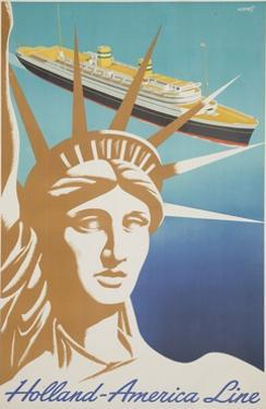 Holland America Lines Poster by Frans Mettes