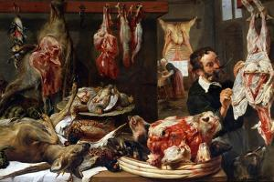 A Butcher Shop, 1630S by Frans Snyders