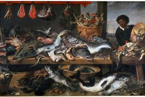 A Fishmonger's Shop, 17th Century by Frans Snyders