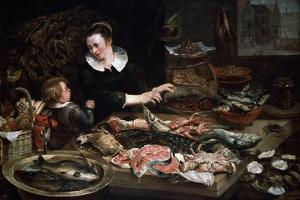 A Fishmonger's Shop, C1616-1618 by Frans Snyders