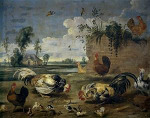 Fight of Cocks, 17th century by Frans Snyders