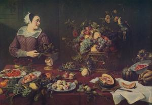 'La Vendedora De Frutas', (The Fruit Seller), 1636, (c1934) by Frans Snyders