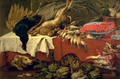 Still Life with Game and Lobster, c.1610
