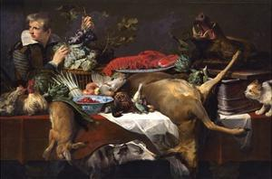 Pantry Scene with Servant by Frans Snyders