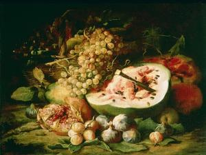 Still Life of Fruit on a Ledge by Frans Snyders