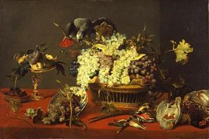 Still Life with Gray Parrot, c.1630 by Frans Snyders