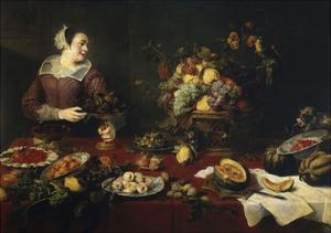 The Fruit Girl, Ca. 1633 by Frans Snyders