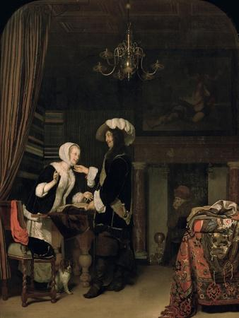 Cavalier in the Shop, 1660