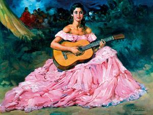 La Guitarista by Fransisco R S Clemente