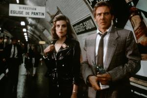 FRANTIC, 1988 directed by ROMAN POLANSKI Emmanuelle Seigner and Harrison Ford (photo)