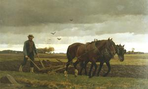 The Ploughman by Frants Henningsen