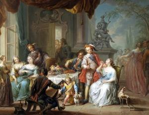Dining on the Terrace by Franz Christoph Janneck