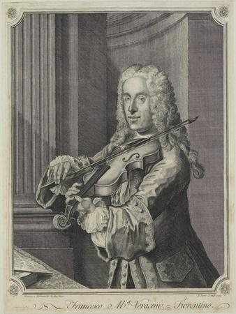 Francesco Ma Veracini, Engraved by J. June (Fl.C.1740-70), 1744
