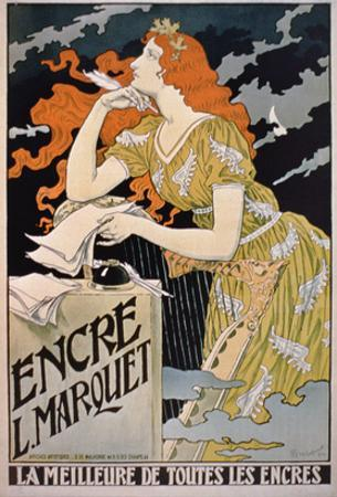 Poster Advertising 'L. Marquet Ink, the Best of All Inks', 1892 (Colour Litho)