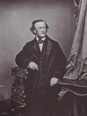 Richard Wagner, German Composer, 1860s by Franz Hanfstaengl