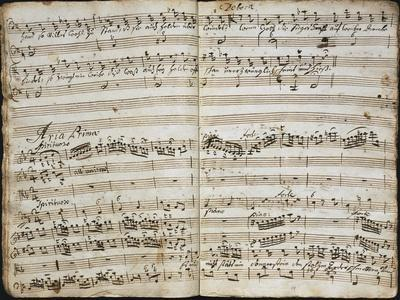 Handwritten Score for Oratorio Deborah