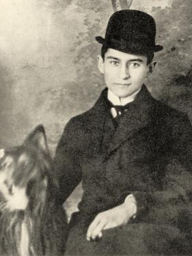 Franz Kafka with His Dog, 1910