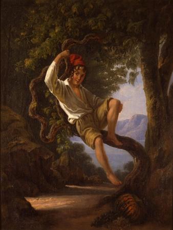 A Young Boy Climbing a Tree, 1820s