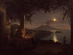 Moonlit View of the Bay of Naples by Franz Ludwig Catel