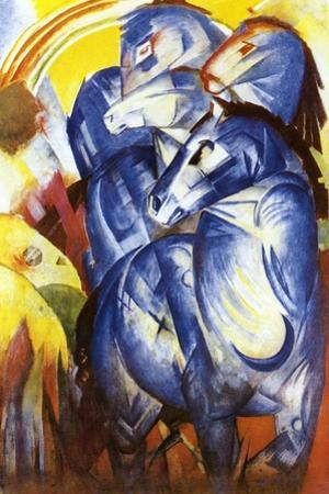 A Tower of Blue Horses, 1913 by Franz Marc
