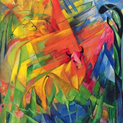 Animals in a Landscape, 1914 by Franz Marc