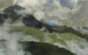 Aufsteigende Nebel, 1903 by Franz Marc