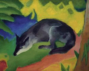 Black and Blue Fox by Franz Marc