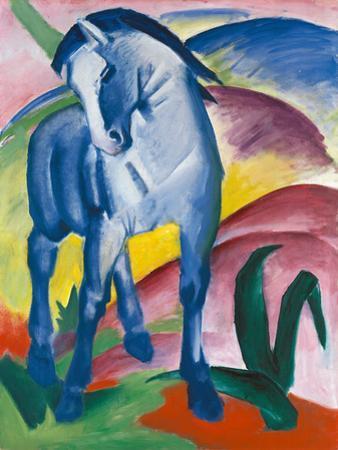 Blaues Pferd by Franz Marc